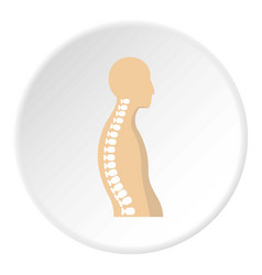 Human spine icon circle vector