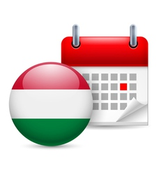 Icon of National Day in Hungary vector