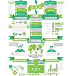 INFOGRAPHIC DEMOGRAPHICS BUSINESS GREEN vector image