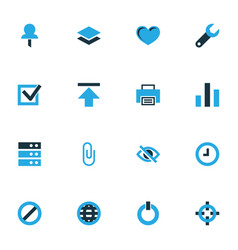 interface colorful icons set collection of goal vector image