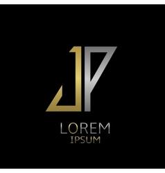 JP letters logo vector