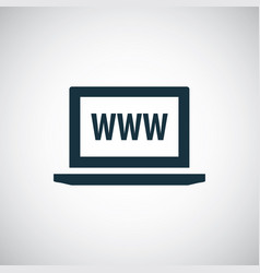 laptop www icon simple flat element concept design vector image