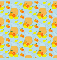 lemonade seamless pattern vector image