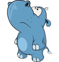 little hippo Cartoon vector image
