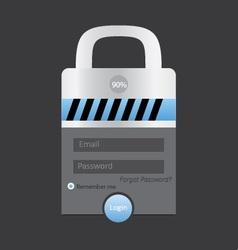 lock login vector image vector image
