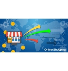 Long Background Online Shopping vector image