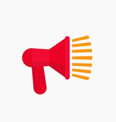 loudspeaker megaphone icon vector image