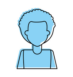 Man with afro avatar icon image vector