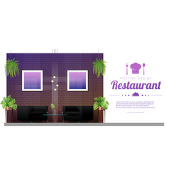 modern restaurant with table and chairs scene vector image
