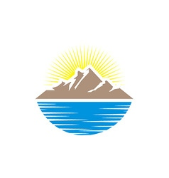 mountain summer vector image