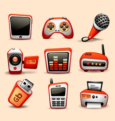 multimedia icons part 2 vector image