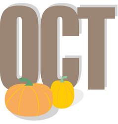 October seasonals postes with pumpkins autumn vector