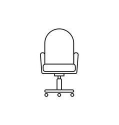 office chair line flat vector image vector image