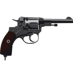 Old Revolver Nagant vector image