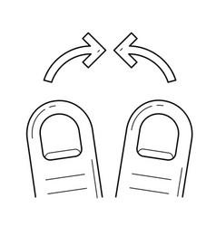 Pinch line icon vector