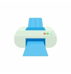 Printer icon in cartoon style vector image