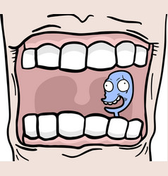 Puppet in mouth vector