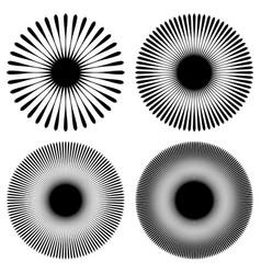 Radial lines rays beams circular pattern sunburst vector