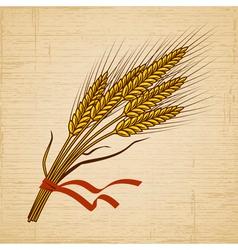 Retro Wheat vector