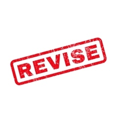 Revise Rubber Stamp vector image