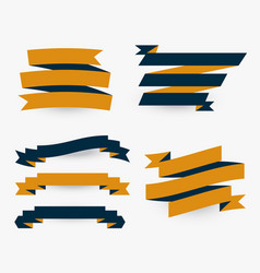 set of flat premium ribbons vector image