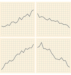 set of graphs vector image