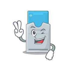 Smiley mascot key card cartoon character vector