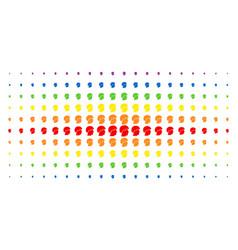 soldier helmet spectrum halftone matrix vector image