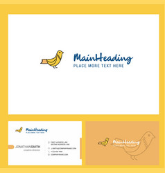 Sparrow logo design with tagline front and back vector