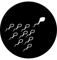 Spermatozoon icon vector