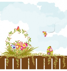 Springtime easter holiday wallpaper vector