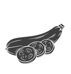 Squash glyph icon vector