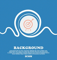 Target icon sign Blue and white abstract vector image