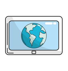 technology computer screen vector image