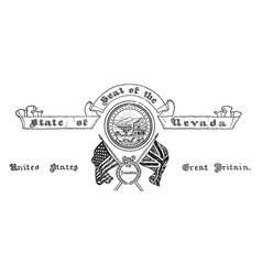 united states seal nevada vintage vector image