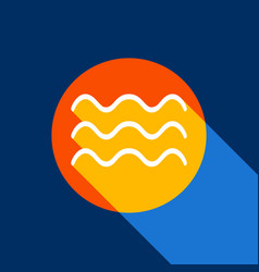 waves sign white icon on vector image