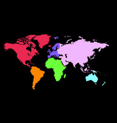 World map with color vector