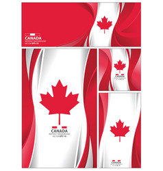 abstract canada flag background vector image