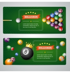 Billiards Baners Set vector image vector image