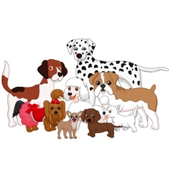 Cartoon dog collection vector image vector image