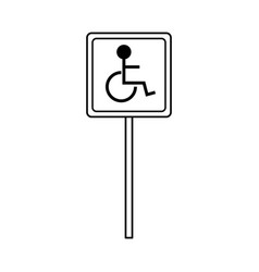 Disabled person parking sign icon image vector