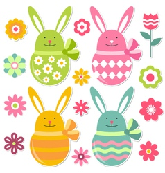 easter set vector image vector image