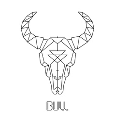 Bull skull cow skull vector image