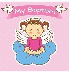 Girl baptism vector