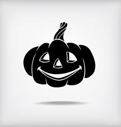 pumpkin black vector image vector image