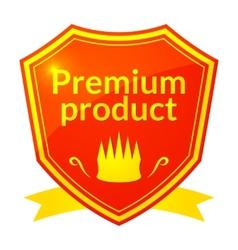 Retro premium product label vector image