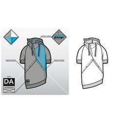 tech sketch of a sweatshirt vector image vector image