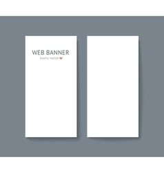 template set of vertical web vector image vector image