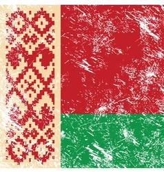 Belarus retro flag vector image vector image