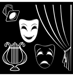 Collection of theatrical characters vector image vector image